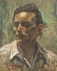 A. Catarsini, Autoritratto, 1943, olio su cartone, cm 40x50, collezione privata