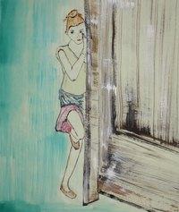 Adriana Luperto, La bambina, 2020, acquerello su carta di riso, 34x28cm
