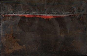 Alberto Burri, Ferro SP, 1961, Roma, Galleria Nazionale di Arte Moderna e Contemporanea. Su concessione del Ministero per I Beni Culturali e Ambientali e del Turismo