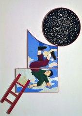 Aldo Spoldi, Le avventure di Gordon Pym, 1981, tecnica mista su carta incollata su tavola, 220 x 190 cm, Collezione Intesa Sanpaolo, ©Archivio Patrimonio Artistico Intesa Sanpaolo / Foto Paolo, Vandrasch, Milano