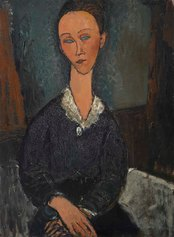 Amedeo Modigliani, Femme au col blanc, 1917, olio su tela.