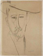 Amedeo Modigliani, Portrait d'homme, circa 1915, matita su carta.