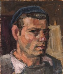 Willy Leiser, Autoritratto, 1948/1949, Olio su tavola