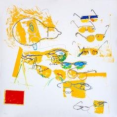 Mario Schifano, Casa+Chiesa, 70x70 cm, serigrafia, 1988