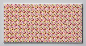 Claudio Rotta Loria, Superficie a interferenza luminosa Pulsar 1.20, 2020, acrilico, fluorescente,  cartoncino su tavola, 40x70x1cm