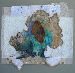 Confini, cm.35x50, tecn.m. su carta, 2020