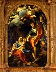 Antonio Allegri detto il Correggio: Riposo durante il ritorno dalla fuga in Egitto detta Madonna della scodella, 1528-1530 Olio su tavola Parma, chiesa di San Sepolcro