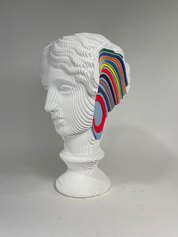 Daniele Fortuna, Colormination series, wood painted sculpture