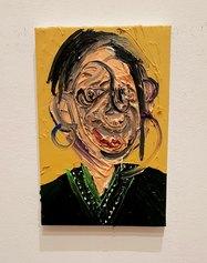 Dario Molinaro, Portrait (kind regards), oil on canvas, cm 20x30, 2021