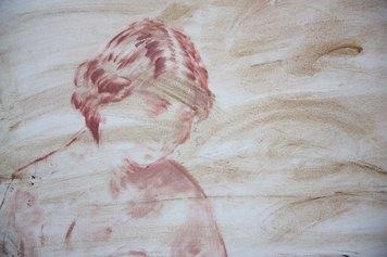 Elisa Filomena, Eden a Casa Vuota, 2021, acrilico su tela, particolare