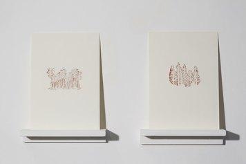 Elisabetta Di Maggio, Senza Titolo, 2018, fogli di porcellana tagliati a mano con bisturi, courtesy of the artist