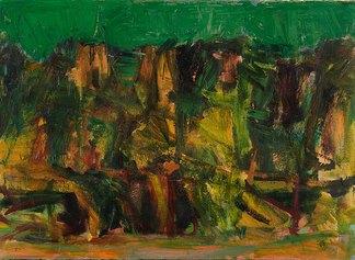 Ennio Morlotti, Collina di Imbersago (Paesaggio) 1953 olio su tela cm 71x97, foto.Luca Carra