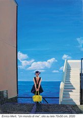 Enrico Merli - Un mondo di me - olio su tela 70x50 - 2020