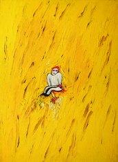 Enzo Cucchi, Senza titolo (Piccolo personaggio marchigiano), 1979, olio su tela, 89,50 x 65 cm, Collezione D'Ercole, Roma, © Gaia Schiavinotto
