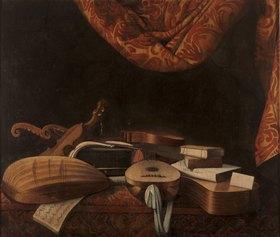 Evaristo Baschenis Att.: Strumenti musicali