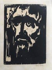 mil Nolde, Prophet, 1912, silografia, 321 X 222 mm