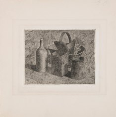 Giorgio Morandi, Natura morta con il cestino del pane, 1921, acquaforte, 118 X 154 mm