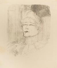 Henri De Toulouse-Lautrec, Jeanne Granier, 1898, litografia, 293 X 240 mm