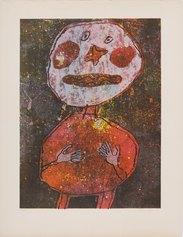 Jean Dubuffet, Personnage au costume rouge, 1961, litografia a colori, 525 X 385 mm