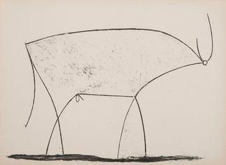 Pablo Picasso, Le taureau (XI stato 17.01.1946), 1945, litografia, 290 X 375 m