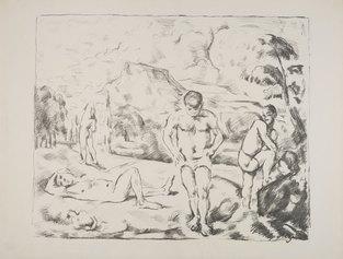 Paul Cezanne, Les baigneurs (grande planche), 1896, litografia, 410 X 510 mm