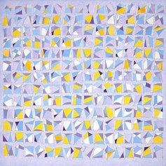 Franco Bruzzone - Senza titolo - Acrilico e matita su tela - cm 100x100 -1987