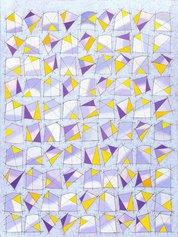 Franco Bruzzone - Senza titolo - Olio e matita su tela - cm 80x60 - 23 giugno 1988 (BF10)