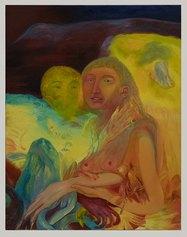 Francesca Banchelli, Gli Aúguri, 2021, 90 x 70 cm, Olio su cotone (Ex Fonderia d'Arte Luigi Tommasi, Via Marconi 48)