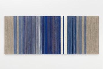 Sheila Hicks - Untitled, 2021 - textile fibers on wooden support - 120×300×4 cm - Courtesy the artist and Francesca Minini - Photo Andrea Rossetti