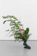 Heavy foot, 2020, bronze, cut flowers, greenery, cm 20x25x13