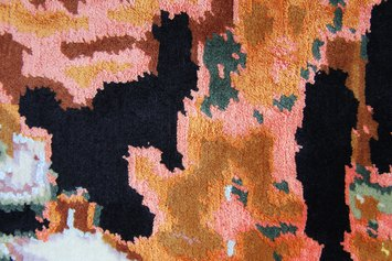 Irene Fenara, Three Thousand Tigers, 2020, tapestry, wool and silk, courtesy the artist