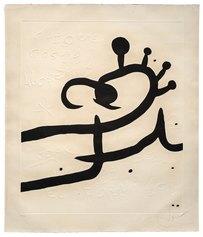 Joan Mirò, El Pi de Formentor n 1, acquatinta con altorilievo su carta a mano Guarro, 1976