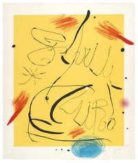 Joan Mirò, Espriu-Mirò n 9, acquaforte e acquatinta a colori con carborundum su carta a mano Guarro, 1971