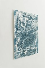 Laura Pugno, Omaggio a Wilson Bentley_013, 2019, pigmento e neve su carta