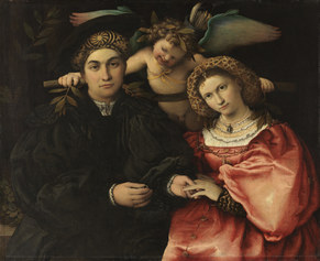 Lorenzo Lotto, Marsilio Cassotti and his Wife Faustina, 1523. Museo del Prado, Madrid