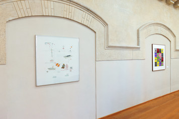 MAMbo – Museo d'Arte Moderna di Bologna, collezione permanente, veduta d'allestimento della sezione Verbo-Visuale - Foto Roberto Serra