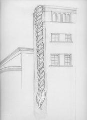 Matteo Nasini, Nel dolce tempo, 2021, matita su carta. Progetto per Chiantissimo, Torre del Teatro Niccolini, San Casciano in Val di Pesa
