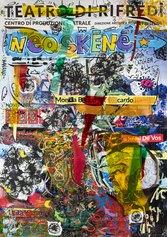 Neo Skenè - Manifesti d'artista al Teatro di Rifredi locandina artisti - Pigmento con legante acrilico su carta, pvc, spray, marker