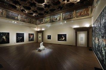 Nicola Samorì, Sfregi, veduta dell'allestimento, Palazzo Fava, Genus Bononiae. Musei nella Città. Foto Paolo Righi.