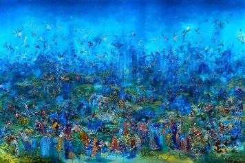 Ali Banisadr, The gatekeepers, 2009, olio su lino, Courtesy Thaddaeus Ropac, London Paris Salzburg