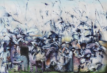 Ali Banisadr, Thought Police, 2019, olio su lino, Private collection, Hong Kong