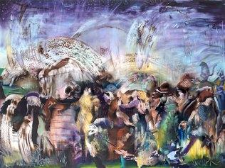 Ali Banisadr, Underworld, 2021, olio su lino, Courtesy Thaddaeus Ropac, London Paris Salzburg