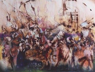 Ali Banisadr, Beautiful Lies, 2021, olio su lino, Courtesy Thaddaeus Ropac, London Paris Salzburg