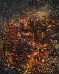 Ali Banisadr, History, 2012, olio su lino, Private collection, Lyon