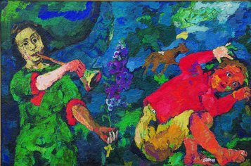 Oskar Kokoschka, Il potere della musica, 1918 olio su tela, Eindhoven, Collection Van Abbemuseum