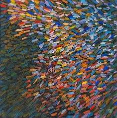 Perrone Nino, GERMOGLI - olio su tela, cm.40x40 -anno 2014 (FILEminimizer)