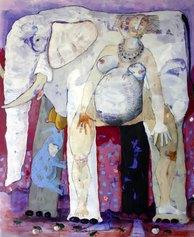 Pino Procopio - UMUVYEYI (LA MADRE) - Acrilico su tela cm180x150