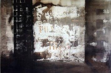 Renzo Vespignani - Periferia (1963) - chine acquarellate e inchiostri su carta - cm 67x98