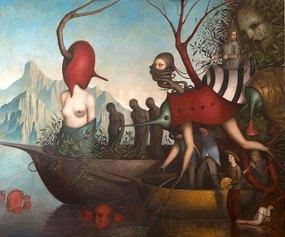 Alessandro Sicioldr - Processione, 2019-2020, Olio su lino, 200 x 240 cm