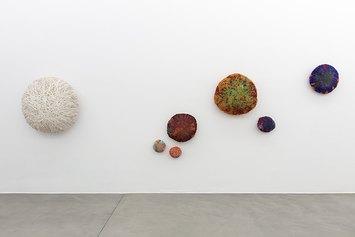 Sheila Hicks, Cosmic Arrivals, installation view at Francesca Minini, May-July 2021 Courtesy the artist and Francesca Minini - Photo Andrea Rossetti